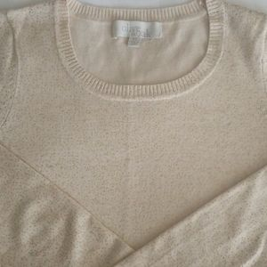 Womens Olive and Oak gold flecked sweater, XS